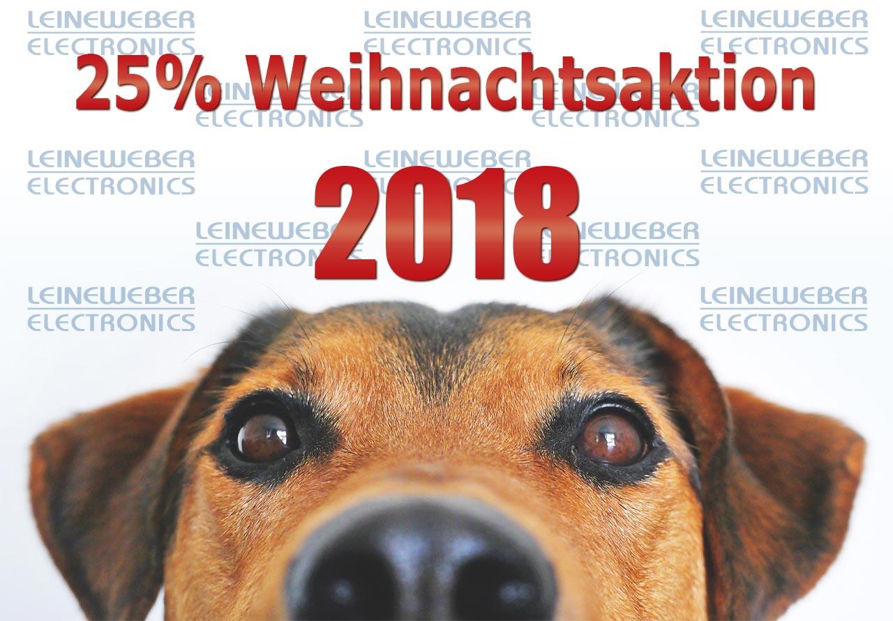 25% Weihnachtsaktion 2018 – LEINEWEBER ELECTRONICS